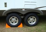 trailer wheel chocked andcropped