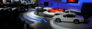 7 generations of Corvettes at debut