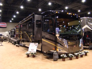 Winnebago display at National RV trade Show