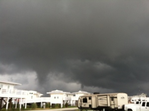 RVs with Storm Approaching