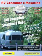 RV Consumer Magazine Cover November 2014
