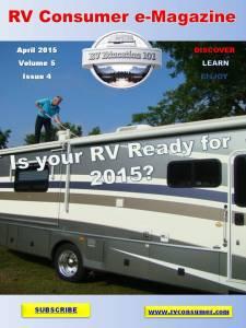 RV Consumer Magazine Cover April 2015