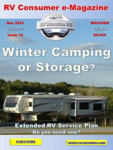 RV Consumer Magazine Cover December 2015