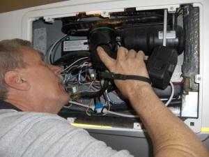 inspect RV refrigerator