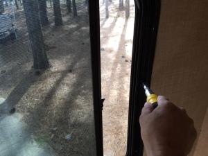 window tighten screws