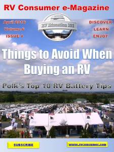 RV Consumer Magazine April 2016 cover