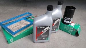 Generator oil and filter