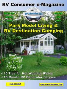 RV Consumer Magazine cover August 2016